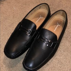 Black loafers, size 10